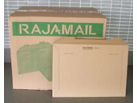 100 Rigid Rajamail Cardboard Envelopes 36x25cm 350gsm