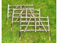 "24"" Rustic Chestnut Wooden Garden Fence Gate Hurdle"
