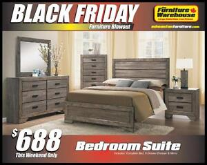 BLACK FRIDAY Bedroom Set Deal-Only $688