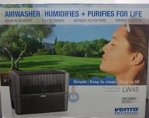 Venta Airwasher 2-in-1 Humidifier & Air Purifier LW45 Grey