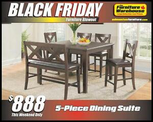 BLACK FRIDAY Dining Table Set Deal-Only $888