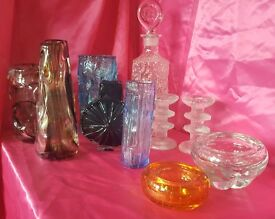 Collection of Whitefriars decorative glass
