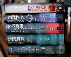 Complete set of 5 historical novels 'The Emperor' series by Conn Iggulden