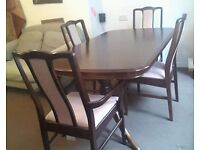Stag Minstrel Extendable Dining Table Solid Wood Excellent Quality 4 Chairs - Can Deliver