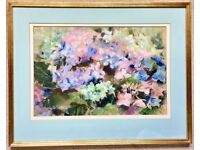 """""""Hydrangea"""" an Original Painting - a Floral Study in Pastels by Seija Wentworth"""