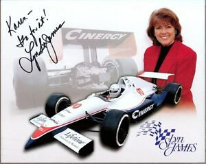 Lyn-St-James-Race-Car-Driver-Signed-10-x-8-Photo-COA