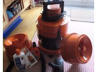 Vax wet vacuum and carpet cleaner instructions and tools, second hand good working condition