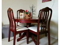 Mahogany dinning table & 4 chairs