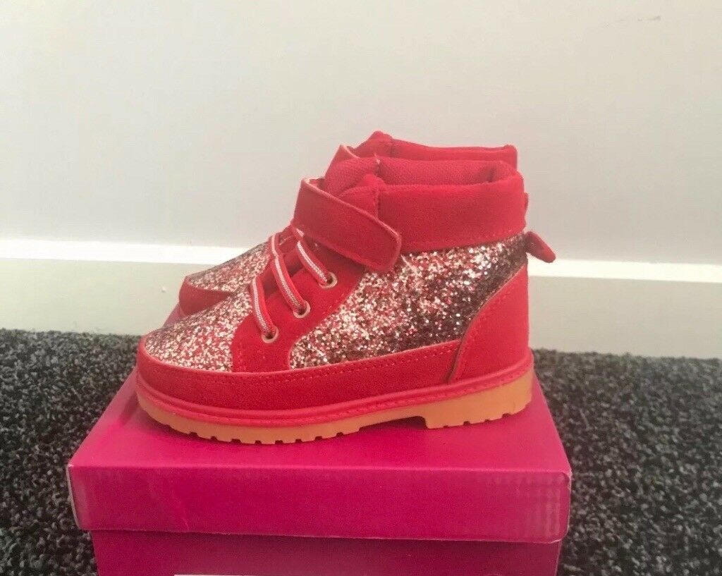 Infant Girls Red Glitter Boots In Darlington County Durham Gumtree