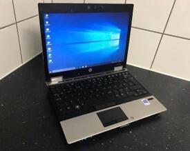 "HP Intel Core i7 12"" 4Gb RAM 120Gb HDD Laptop Windows 10 Pro Microsoft Office 2016 Ultrabook DVD-RW"