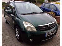 ***TOYOTA COROLLA VERSO T3 VVTI AUTO, ONE OWNER FROM NEW. *REDUCED