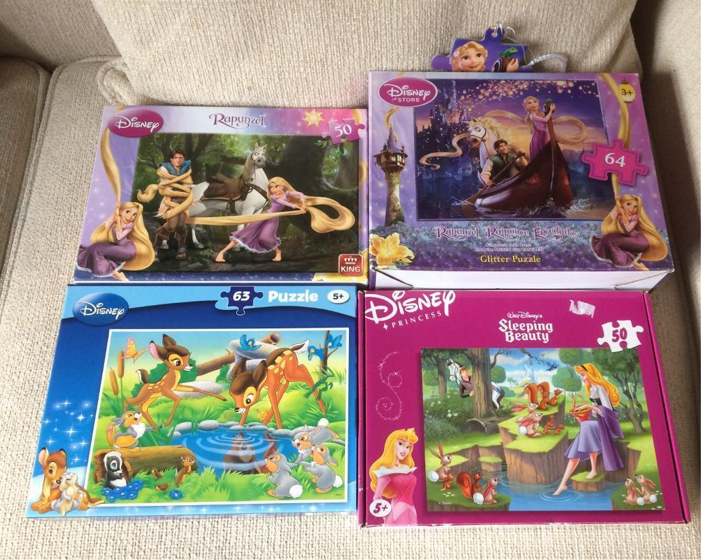 4 Disney Jigsaw puzzles
