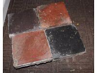 **** Reclaimed Quarry tiles 6X6, Red & Black *******