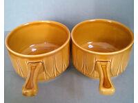 vintage french onion stoneware soup bowls
