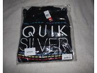 BNWT Quiksilver zipped winter weight hoody XS
