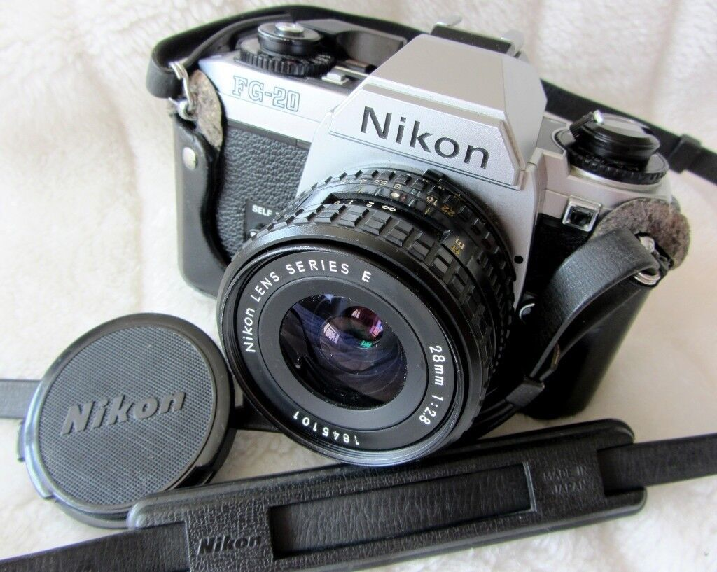 Excellent Nikon Fg 20 35mm Slr Film Camera Nikon Series E 28mm F2