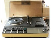 1970s PHILIPS 940 COMPACT RECORD PLAYER STEREO HI-FI SYSTEM + SPEAKERS