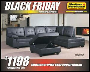 BLACK FRIDAY Sectional and Storage Ottoman Set Deal-Only $1198