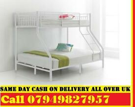 Trio Sleeper Metal Bunk Bed Frame Only With Mattress Choices To be Selected AOSI