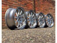 RH deep dish alloy wheels, 18inch, 5x112, Vw transporter T4, Audi Mercedes