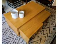 Wooden Coffee table nested