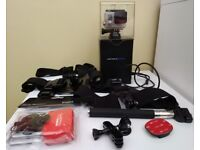 Go Pro Hero 3+ Silver with head, chest mount, stick and floating accessories