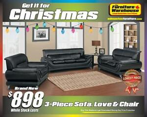 BRAND NEW COMPLETE SET Sofa, Loveseat and Chair