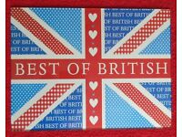 Large Union Jack Best of British Glass Chopping Board Toughened Glass
