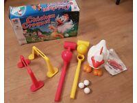 Vintage Chicken Croquet Game Milton Bradley 1996 Never Used