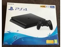 Brand new PlayStation 4 (Black, 500gb)