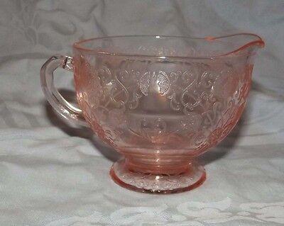 Florentine #1 pink creamer by the Hazel Atlas glass company