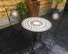Gorgeous Mosaic Bistro Set, New / Unused