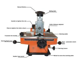 Semi-automatic Sheet Embosser Metal Stamping Machine Not Include Letter Wheel 211065