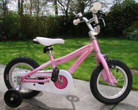 specialized 12 inch wheels pink hotrock bike with stabilizers vgc age 4 up
