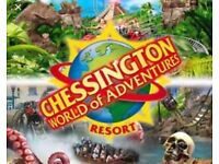 4 chessington tickets for sale