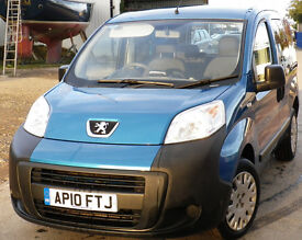 Peugot Bipper Car, Very low milage, Diesel, blue, cheap to tax and very economical to run.