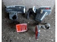 """""""Cat Eye"""" Front & Rear lights for bike - battery operated, removable"""