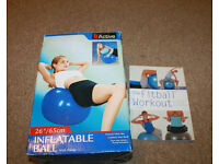 B Active Inflatable Birthing / Fittness 65cm Ball with Pump and Book