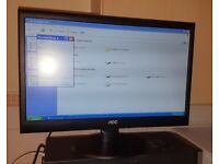 "20"" AOC E2050S LED LCD Monitor Widescreen"