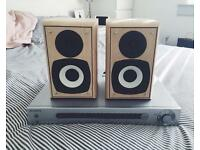 Sony surround sound amplifier and Eltax speakers for sale.