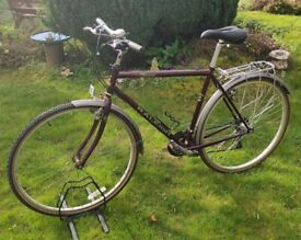 Vintage 1990's Raleigh Pioneer Trail lightweight 21inch frame, 27inch alloy wheels, 21 gears