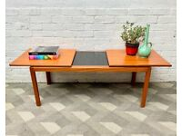 Vintage Teak Extending Coffee Table from Belgium