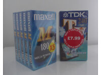 3 New TDK 240 4 Hours Sealed + 5 New Maxwell Blank VHS Video Tapes Cassettes Boxed Sealed 3 Hours