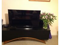 BLACK painted wood TV stand