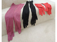 LADIES GLOVES VINTAGE 1940's 3 PAIRS IN EXCELLENT CONDITION