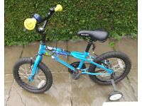 Boy's Bike As New Age 4-7 yrs, With Accessories