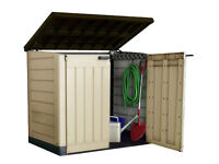 keter store it out max outdoor plastic garden storage shed fully built and delivery available