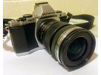 Olympus OMD EM5 with M.Zuiko 12-50mm lens and bag