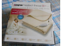 Heated Throw - Double only opened to test,