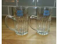 2 BEER GLASSES